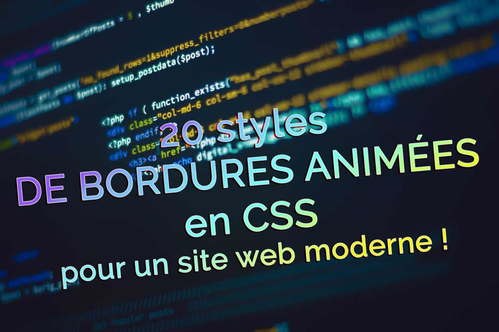 20 Styles of animated borders in CSS for a modern site